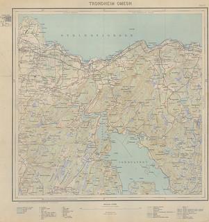 [Kart over Trondheim Omegn (1934) fra Trondheim Byarkiv på flickr.com]