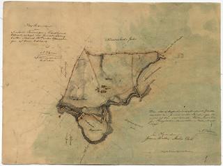 [Kartbrouillon over Arvefæstet Foreningen i Trondhjems Udmark (1857) fra Trondheim Byarkivs flickr-strøm]