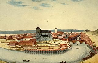 [Nidaros Domkirke / Trondhjem (tidlig 1800-tall) fra Trondheim Byarkivs flickr-strøm]