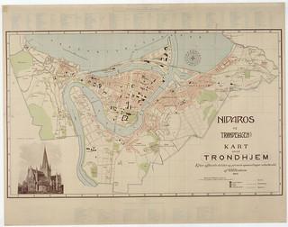 [Kart over Trondheim (1902) fra Trondheim Byarkivs flickr-strøm]