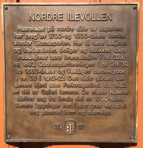Nordre-Ilevollen-plakett
