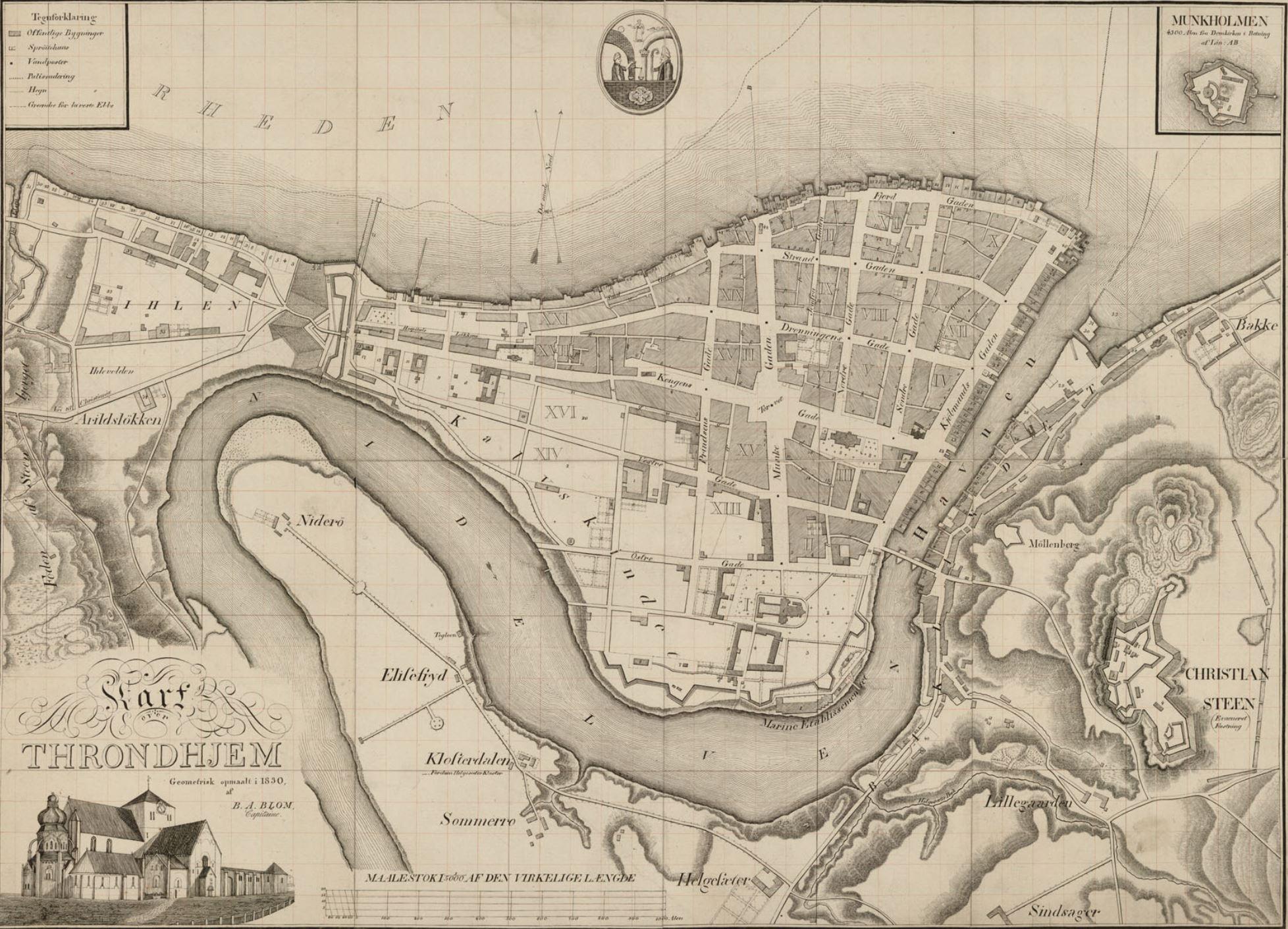 Trondhjemskart I Nytrykk 1695 1909 Trondhjems Historiske Forening